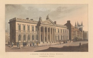 Leadenhall Street. North view of India House.