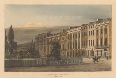 "Papworth: Portman Square. 1816. An original colour antique aquatint. 9"" x 5"". [LDNp8138]"