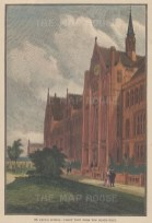 """Illustrated London News: St. Paul's School. 1880. A hand coloured original antique wood engraving. 6"""" x 9"""". [LDNp9836]"""