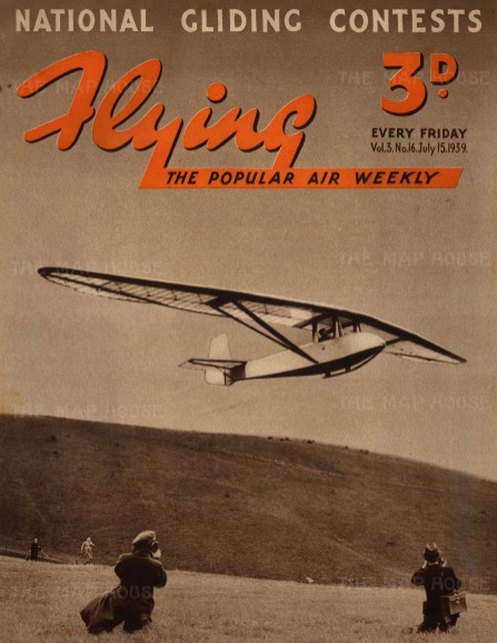 National Gliding Contests. Glider in action with photographers beneath.
