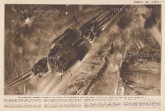 Dramatic bombing of the Dortmund-Ems Canal by Flight Lieutenant Learoyd, VC with explanatory text.