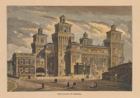 View of the Palazzo Schifanoia.