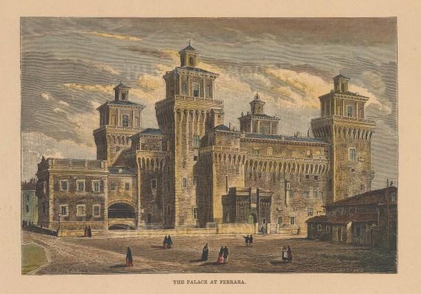 Ferrara: View of the Palazzo Schifanoia.
