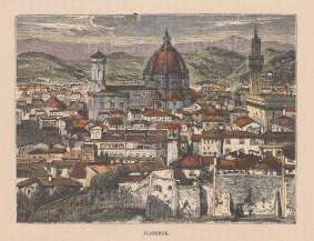 Florence: Towards the Basilica di Santa Maria del Fiore.