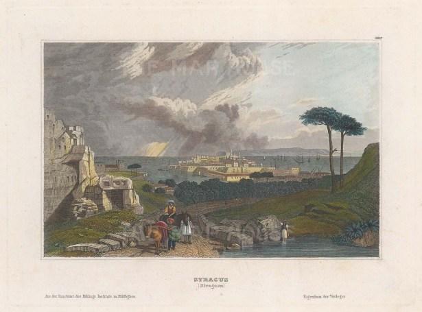 View towards Isola Ortigia.