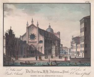 View of the church and Campo Santi Giovanni e Paolo and the statue of Bartolomeo Colleon by Andrea del Verrocchio.