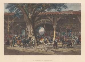 "Wilson: Damascus. 1886. A hand coloured original antique steel engraving. 10"" x 6"". [MEASTp1724]"