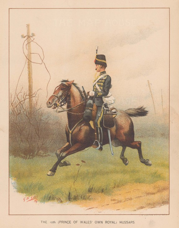 10th Prince of Wales Own Royal Hussars, amalgamated to the Royal Hussars