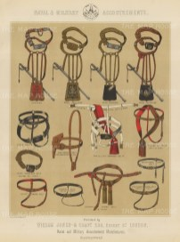Accoutrements. 16 military and naval belts.