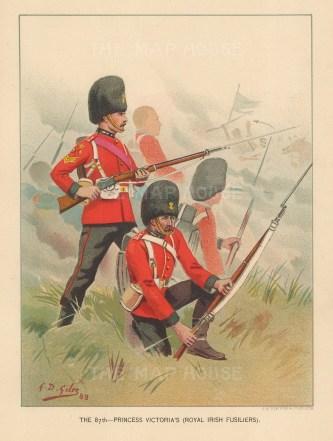 Royal Irish Fusiliers 87th Princess Victoria's, amalgamated to Royal Irish Rangers.