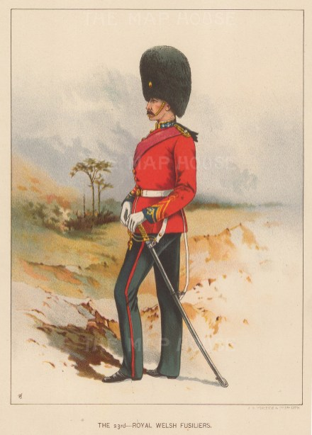 Royal Welsh Fusiliers 23rd, amalgamated to the 1st Battalion, Royal Welsh.