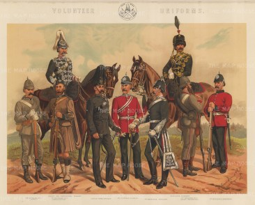 Yeomanry, Artillery, Rifle and Engineers.