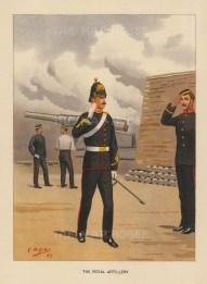 "Richards: Royal Artillery. c1890. An original antique chromolithograph. 7"" x 9"". [MILp15]"
