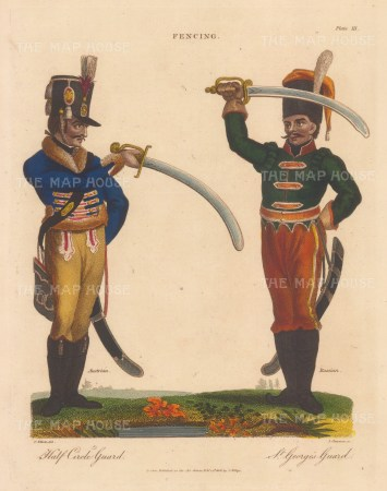 Austrian soldier on Half circle Guard with Russian soldier on St George's Guard.