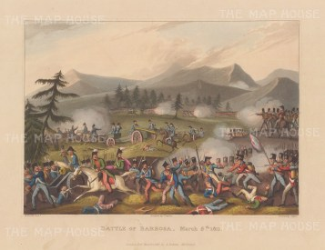 Battle of Barossa, 1811. General Graham's notable victory over the French during the march to Cadiz. After William Heath.