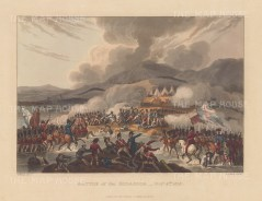 Battle of Bidassoa, 1813. Wellington's defeat of French forces during the peninsular campaign. After William Heath.
