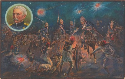 Battle of Kassassin, August 1882. Moonlight charge by the Household Cavalry.