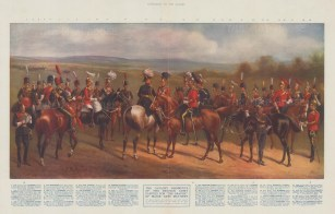 Thirty-two types with a key and brief history of battle honours. After Major John Masters.