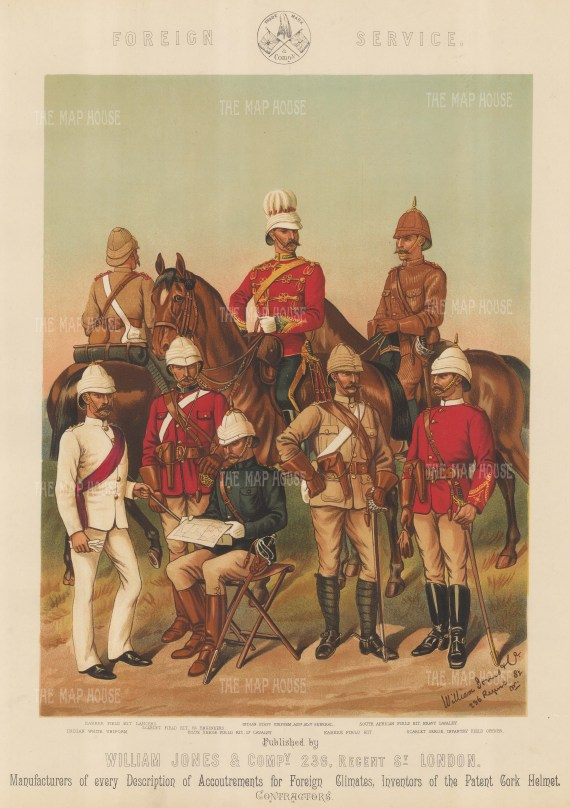 India and South Africa. Cavalry and Infantry.