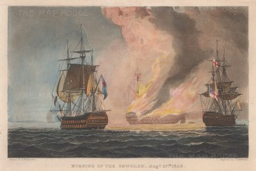 After its defeat by HMS Implacable and Centaur in the Baltic Sea during the Anglo-Russian War.