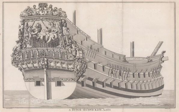 Dutch Second Rate 1670. Ranked on the basis of being over 500 tons with less than 90 guns.