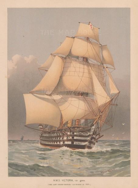 121 Guns. Last three decker, launched in 1859.