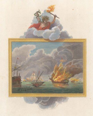 Milford Haven 1405. Lord Berkeley destroying the French fleet off the coast.