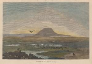 "Picturesque Europe: Mount Tagharma, Tajikistan. c1890. A hand coloured original antique wood engraving. 10"" x 7"". [RUSp705]"