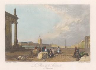 Admiralty Place. View on Nevsky Prospect.