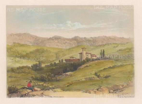"Vivian: Vitoria, Spain. 1838. An original colour antique lithograph. 9"" x 7"". [SPp991]"