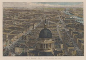 Bird's Eye View: From the dome of St. Paul's looking Eastward. After Sir John Sulman.