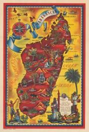 Madagascar: Promotional poster of the island as a tourist destination.