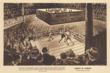 Sunday in London: Afternoon boxing in the Ring at 'Surrey Chapel' Blackfriars Road. After Grace Golden.