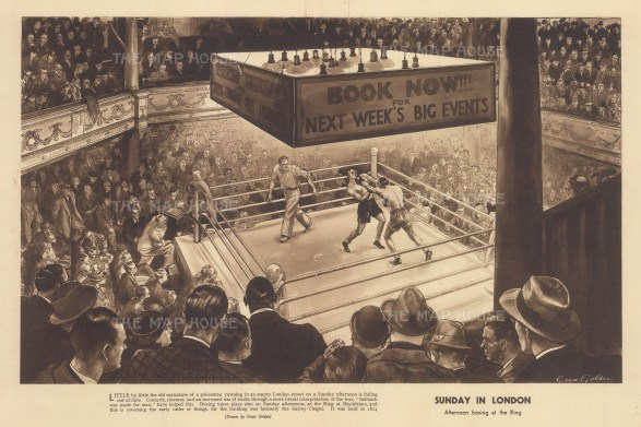Sunday in London. Afternoon boxing in the Ring at 'Surrey Chapel' Blackfriars Road. After Grace Golden.