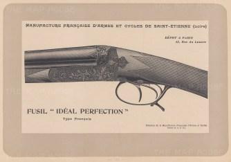 """Mahler: Gun. c1907. An original antique lithograph. 8"""" x 6"""". [FIELDp1148]"""
