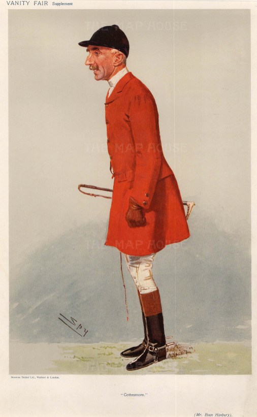 Cottesmore. Maj. Evan Hanbury MFH.