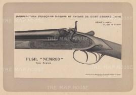 """Mahler: Gun. 1907. An original antique lithograph. 8"""" x 6"""". [FIELDp1208]"""