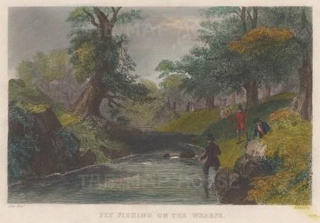 On the Wharfe River near Bolton Abbey.