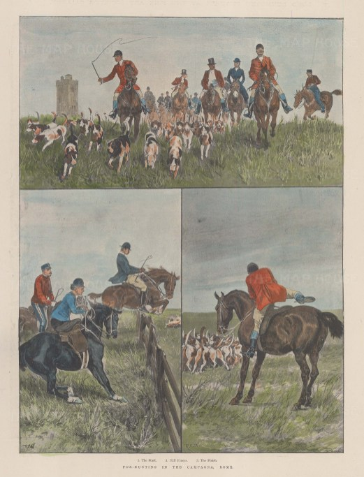 Fox Hunting in the Campagna, Rome.