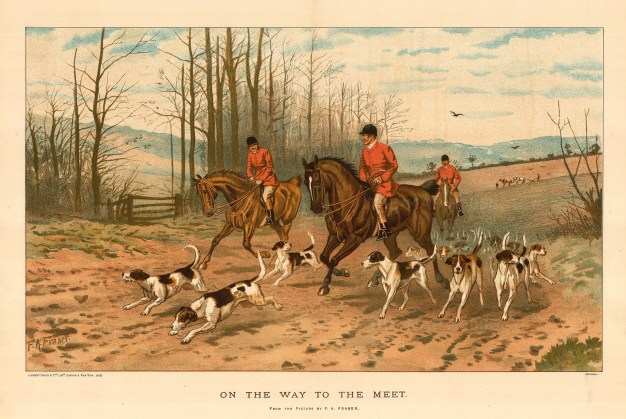 On the Way to the Meet. Huntsmen and Hounds. After Francis Fraser.