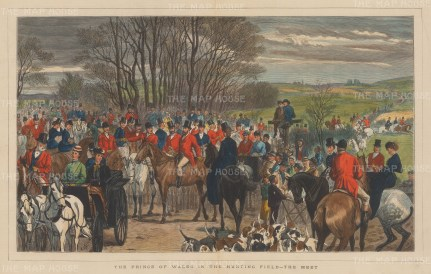 Prince of Wales in the Hunting Field. The Meet.