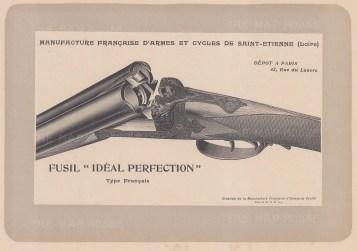 """Mahler: Gun. c1907. An original antique lithograph. 8"""" x 6"""". [FIELDp706]"""