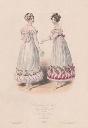 Ball dresses, 1819.