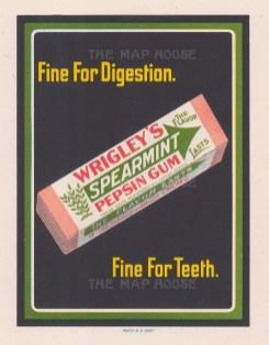 "Edwards & Deutsch: Wrigley's Spearmint Gum. 1918. An original vintage chromolithograph. 7"" x 8"". [DECp1494]"