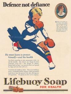 "Punch: Lifebuoy Soap. 1926. An original vintage chromolithograph. 8"" x 11"". [DECp1856]"