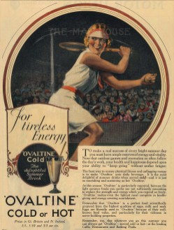 """Punch: Ovaltine. 1935. A hand coloured original vintage wood engraving. 5"""" x 7"""". [DECp1987]"""