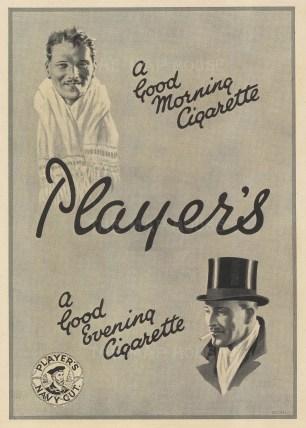 "Punch: Player's Navy Cut. 1929. An original vintage lithograph. 8"" x 10"". [DECp2072]"