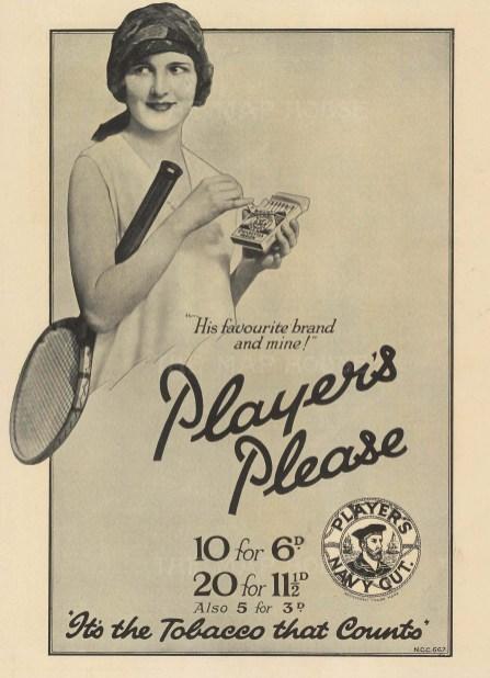"Punch: Player's. 1929. An original vintage lithograph. 8"" x 10"". [DECp2073]"
