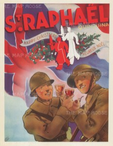 British and French soldiers toasting Christmas.
