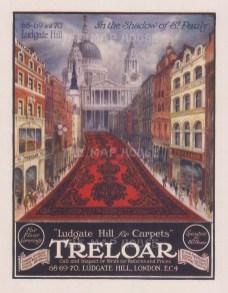 The Sphere: Treloar Carpets. 1918. An original colour antique photo-lithograph. [DECp2187]